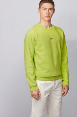 Relaxed-fit sweatshirt in cotton-blend terry, Yellow