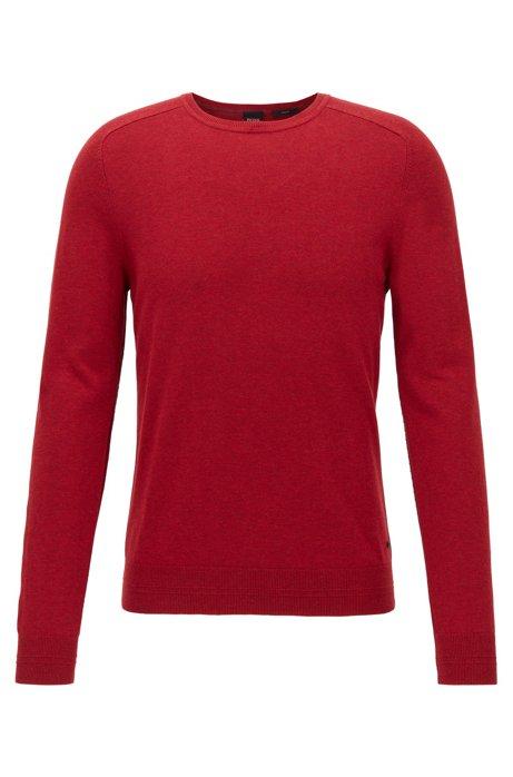 Pullover aus Baumwolle mit Naht-Details, Rot