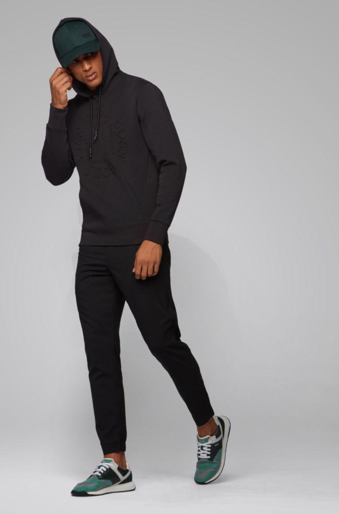 Regular-fit sweater met capuchon en cirkelvormig logo