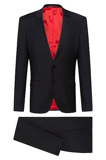 hugo  Costume Extra Slim Fit en tissu bi-stretch Extra slim fit Revers... par LeGuide.com Publicité