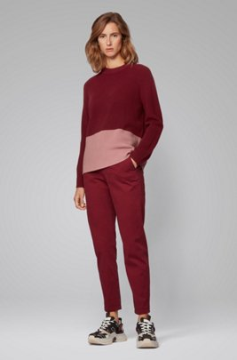 Pullover mit Colour-Block-Detail, Rot
