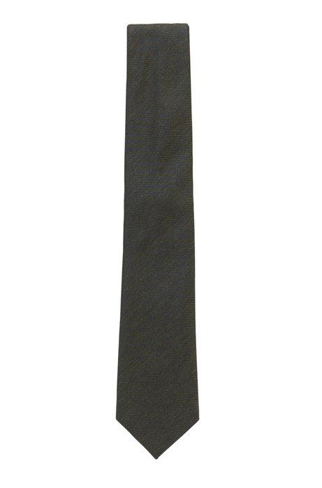 In Italien gefertigte Krawatte aus meliertem Jacquard, Hellgrün