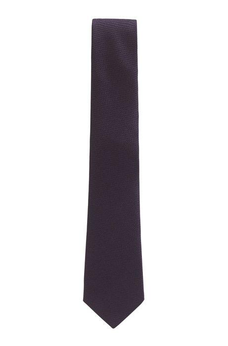 Cravate en jacquard de soie confectionnée en Italie, Lilas