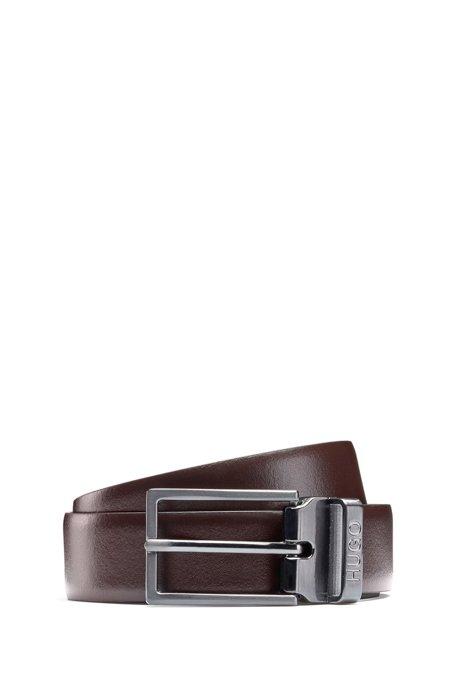 design intemporel de style élégant top design HUGO - Ceinture en cuir avec boucle plate et boucle à ...