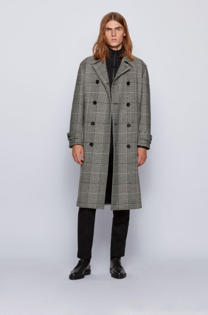Regular-fit jasje van katoen met een gemengde structuur