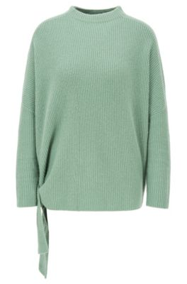 Jersey relaxed fit de puro cashmere con lazos laterales, Cal