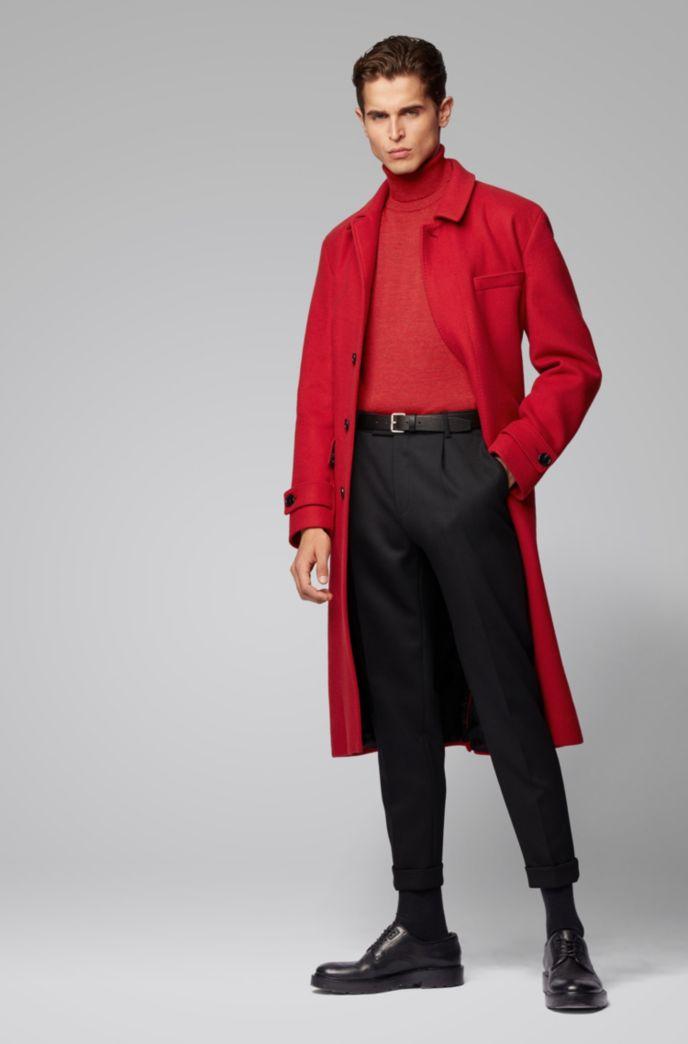 Pullover aus italienischer Schurwolle mit Hybrid-Kragen
