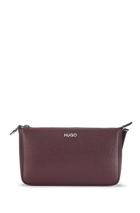 Mini bag in Italian Saffiano leather with adaptable strap, Open Red