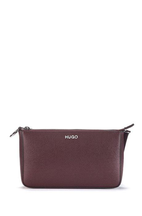 Mini bag in Italian Saffiano leather with adaptable strap, Open Red