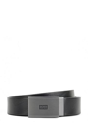 脊状板扣皮带,  001_Black