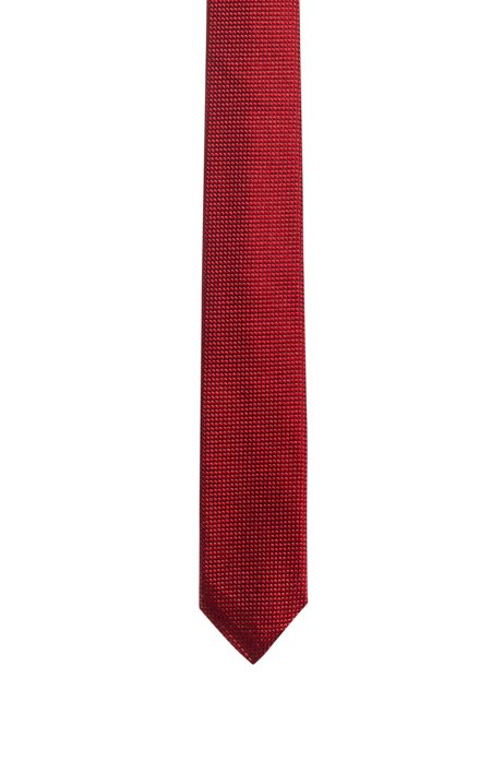 Micro-patterned tie in silk jacquard, Patterned