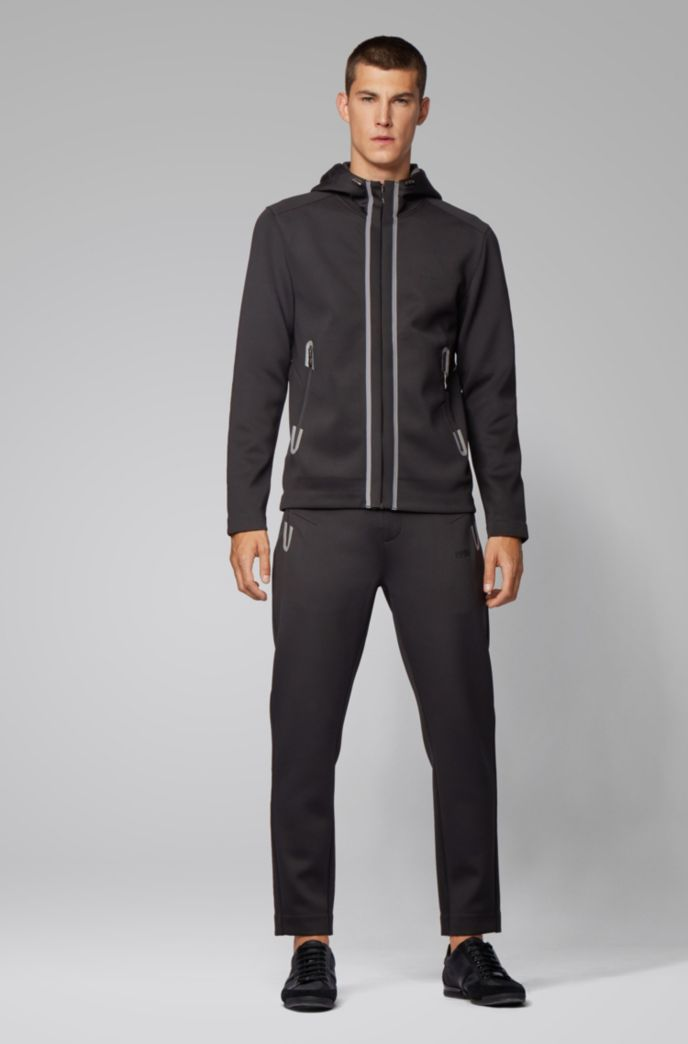 Regular-fit sweatshirt with glued seams and mesh panels