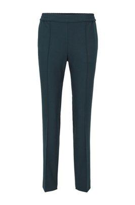 Pantaloni relaxed fit stile jogging, Verde scuro