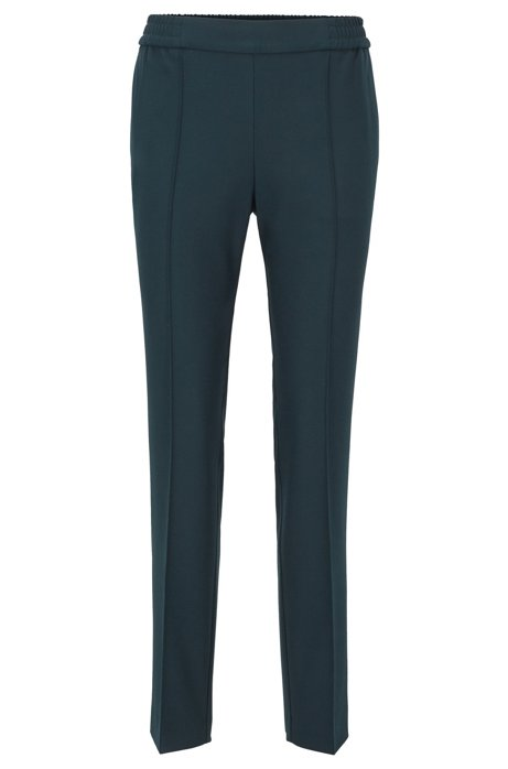Relaxed-fit trousers in a jogging style, Dark Green