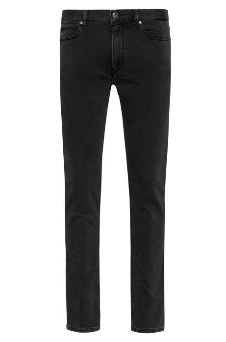 Jean Extra Slim Fit noir, en maille denim stretch, Anthracite