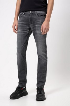 Slim-Fit Jeans aus bequemem Stretch-Denim, Dunkelgrau