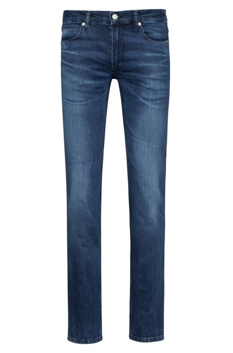 Slim-Fit Jeans aus bequemem Stretch-Denim, Dunkelblau