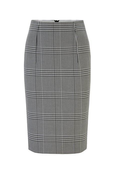 Regular-fit pencil skirt in stretch fabric, Patterned