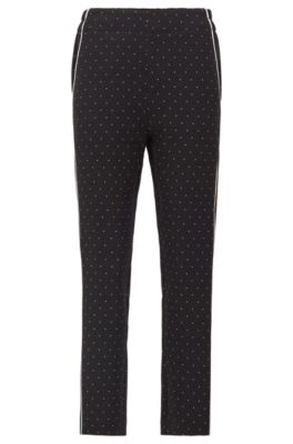 Pantalon de survêtement Regular Fit à passepoils en satin, Fantaisie