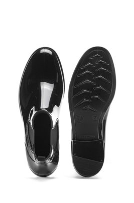 Rain booties in glossy rubber, Black