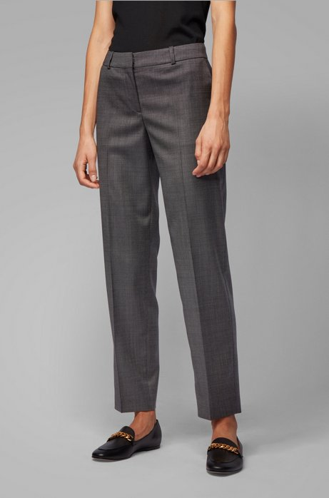 Pantalon Relaxed Fit en laine vierge très stretch à carreaux, Fantaisie