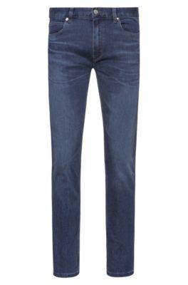 Slim-fit jeans van blauw comfort-stretchdenim, Blauw