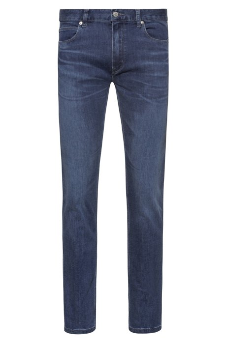 Slim-Fit Jeans aus bequemem Stretch-Denim, Blau