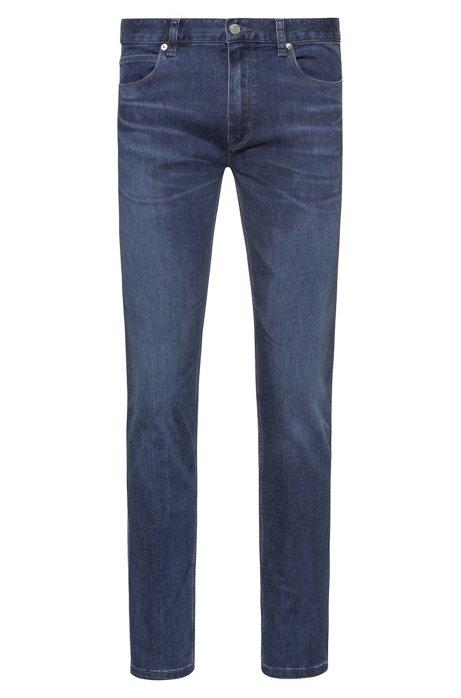 Jeans slim fit in comodo denim elasticizzato blu, Blu