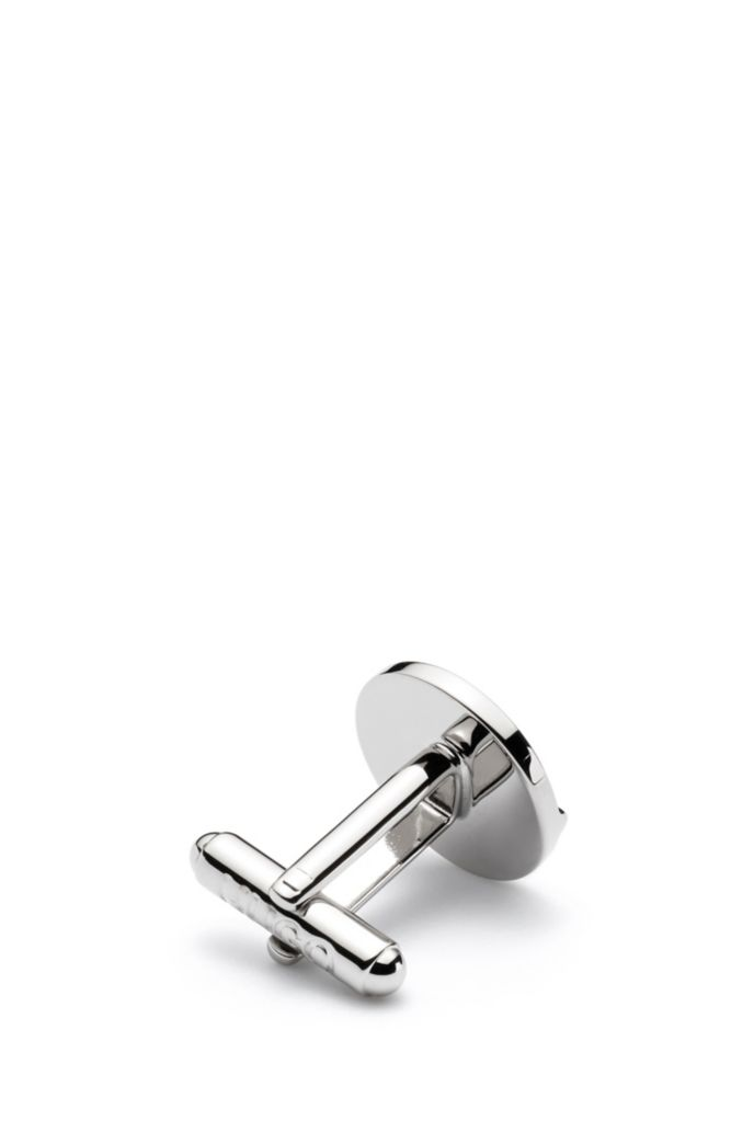 Tower cufflinks in highly polished brass