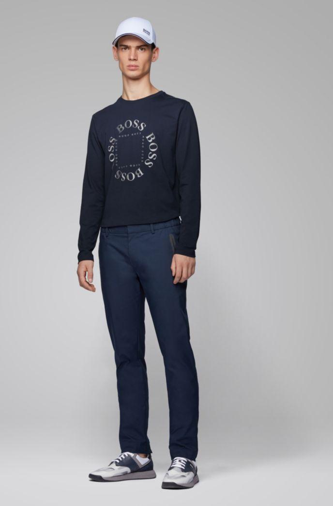 Longsleeve aus Stretch-Baumwolle mit reflektierendem Logo