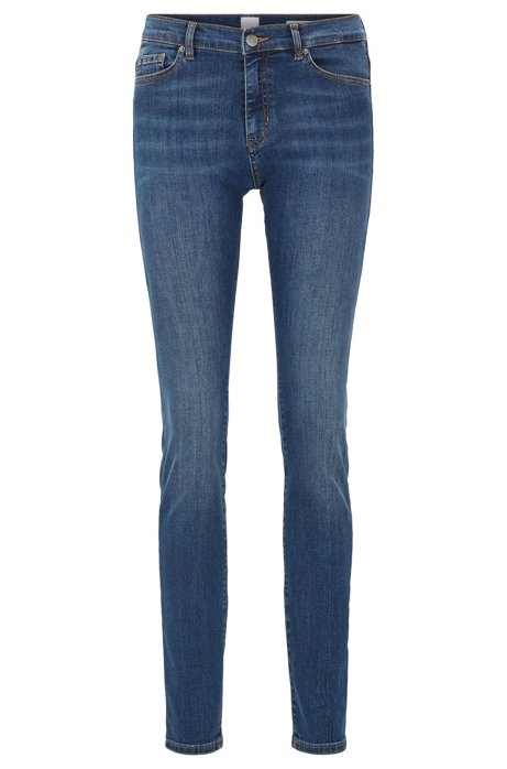 Slim-fit jeans van red-cast super-stretchdenim, Donkerblauw
