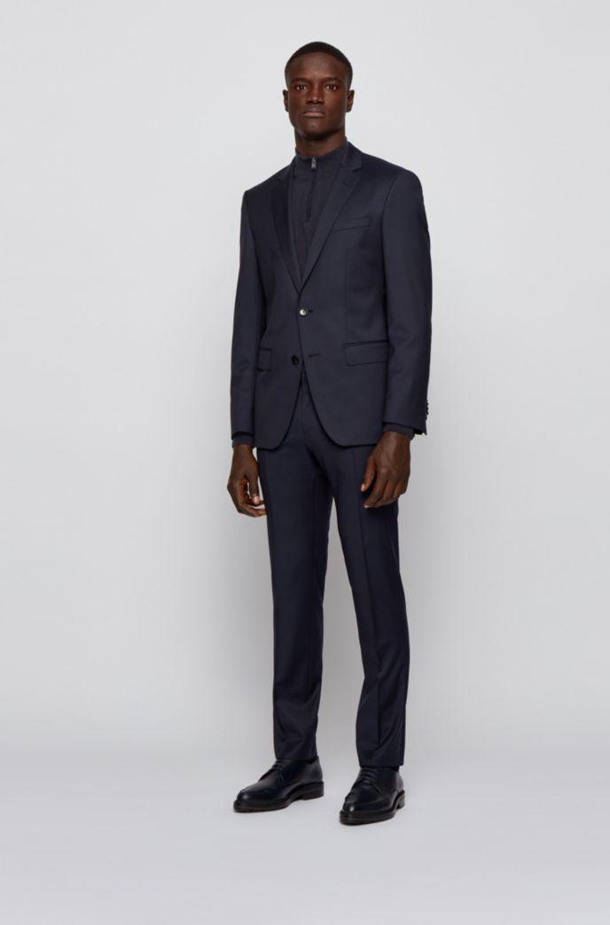 Jersey de algodón puro con cremallera en el cuello y logo bordado