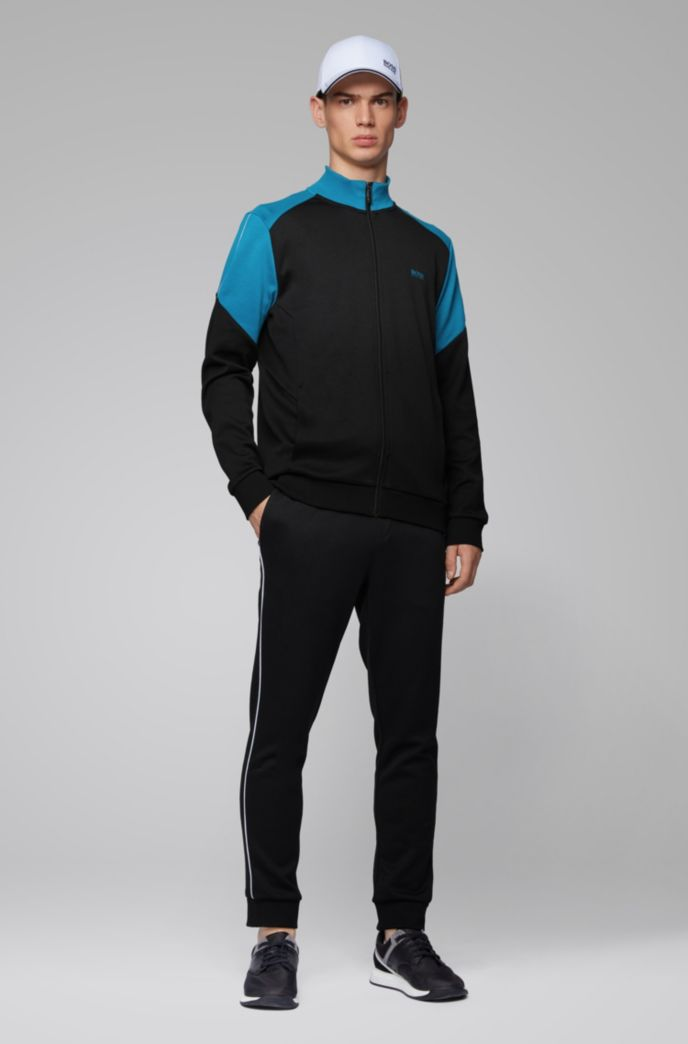 Regular-fit tracksuit with colour-blocking