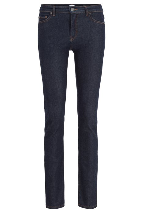 Slim-Fit Jeans aus Denim, Dunkelblau