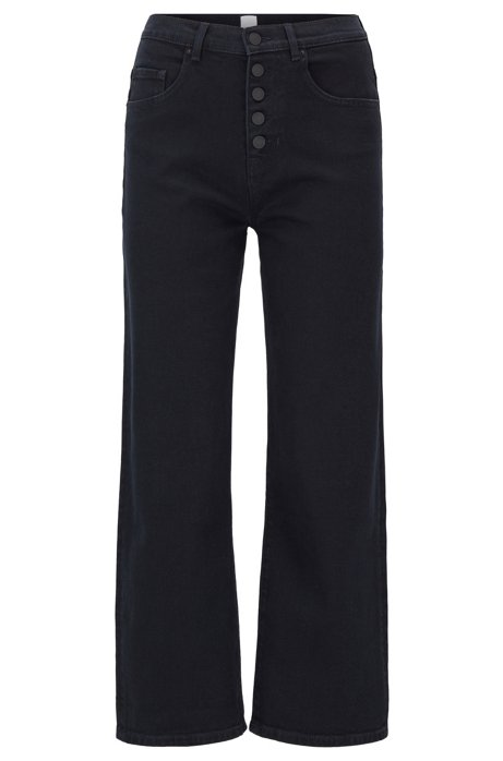 Relaxed-fit jeans in dark-blue stretch denim, Dark Blue