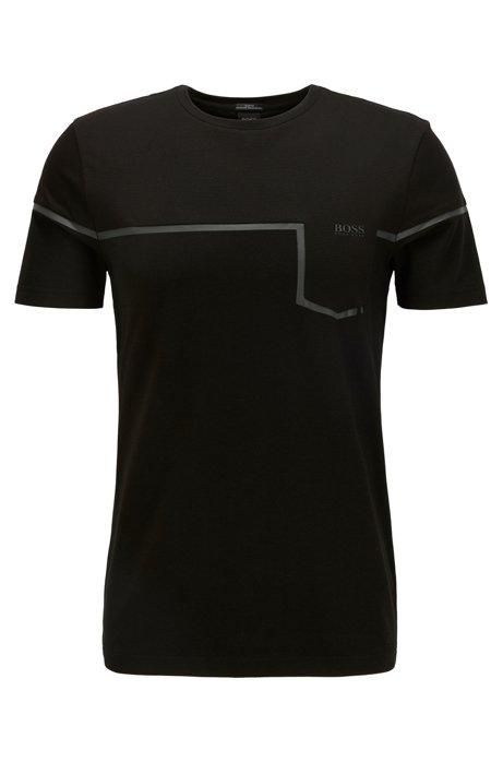 T-shirt Slim Fit en matières mélangées avec la fibre S.Café®, Noir