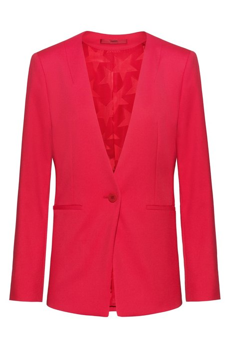 Regular-fit jacket in a long length, Red