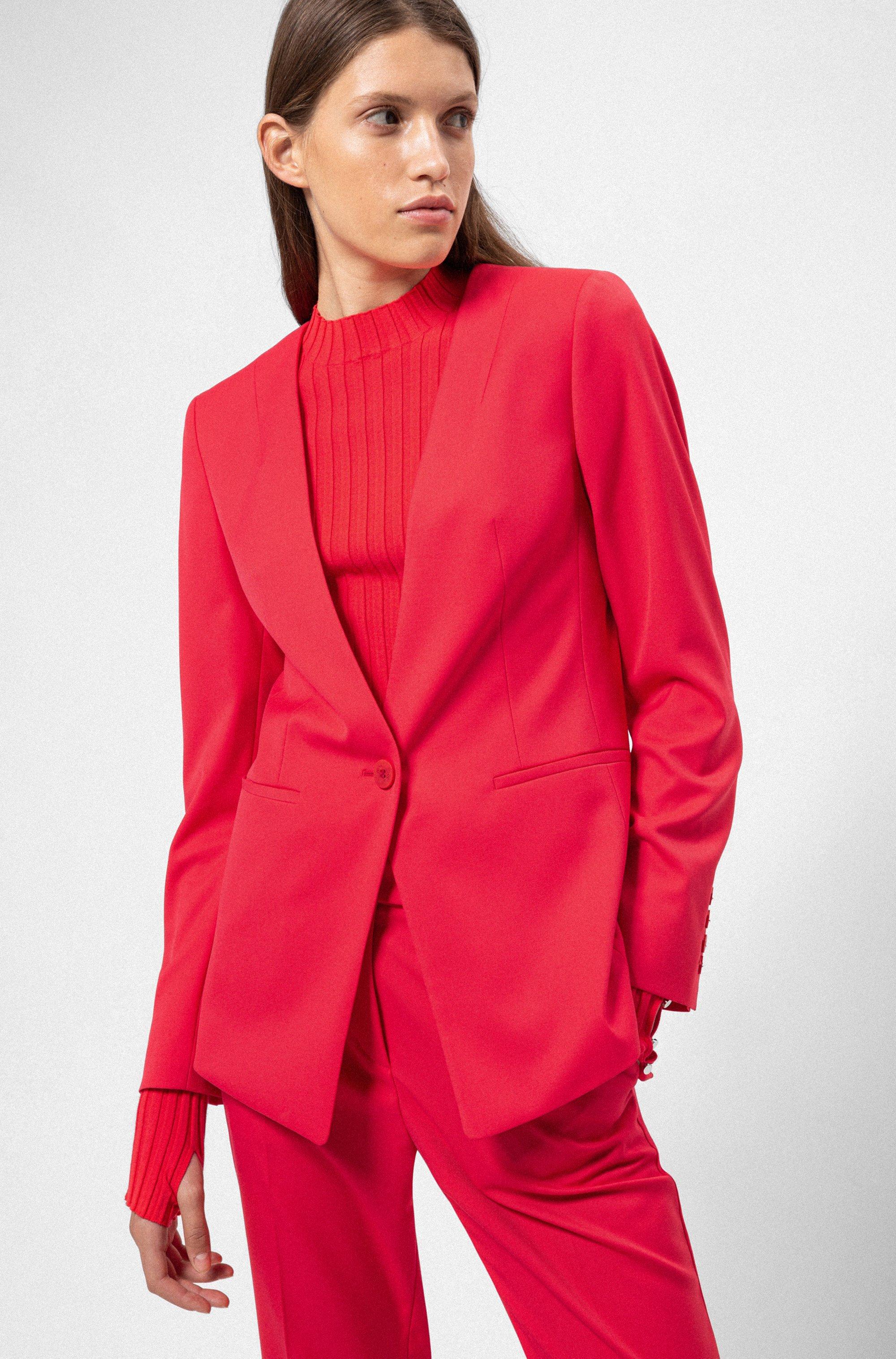 Regular-fit jacket in a long length