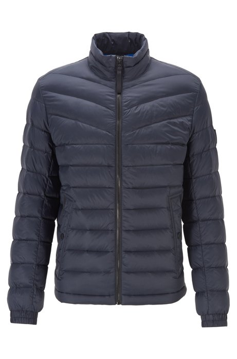 Lightweight slim-fit down jacket with water-repellent finish, Dark Blue