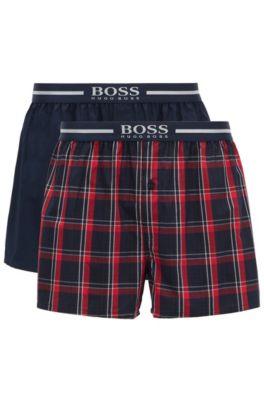 Short de pyjama avec taille à logo métallisé, en lot de deux, Rouge