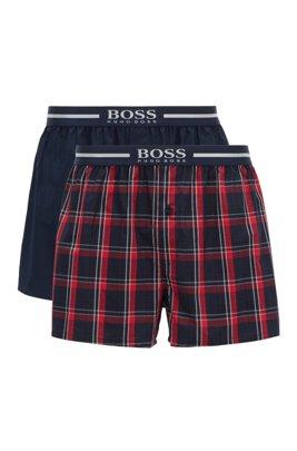 Paquete de dos shorts de pijama con logo metalizado en la cintura, Rojo