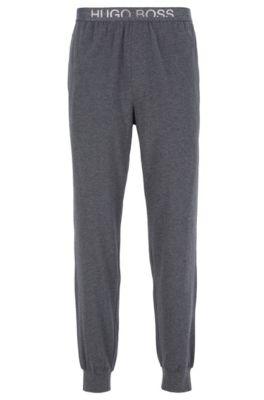 Pyjamabroek met boorden en tailleband met afgesneden logo, Antraciet