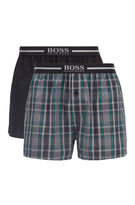Three-pack of pyjama shorts with logo waistbands, Black