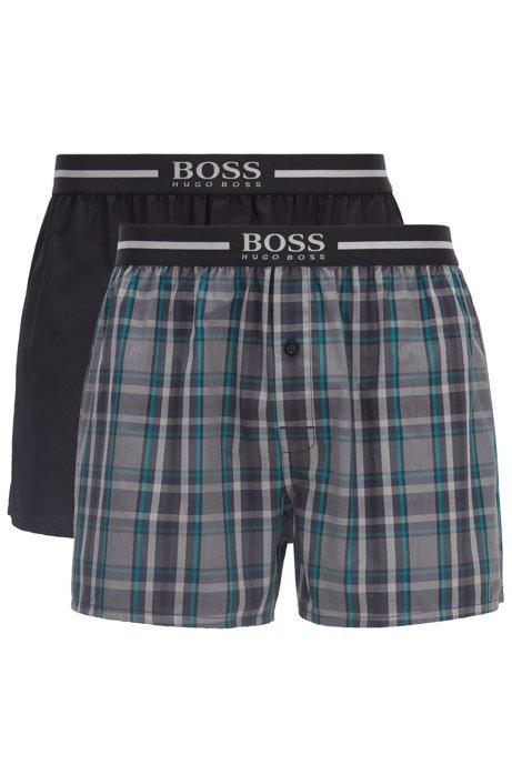 Lot de trois shorts de pyjama ornés du logo à la taille, Noir