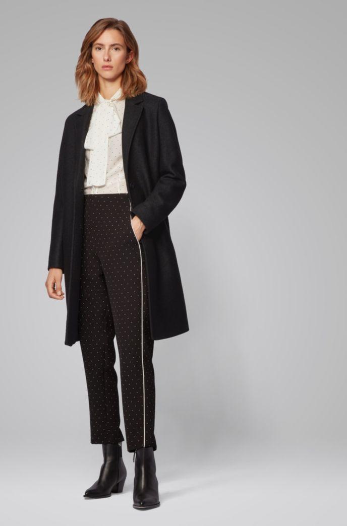Regular-Fit Mantel aus gekochter Schurwolle im Blazer-Stil