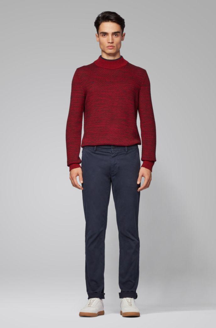 Pantalon Slim Fit en coton stretch peau de pêche