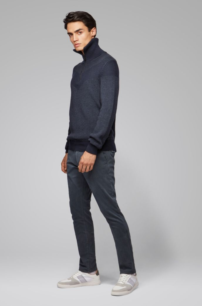 Slim-fit trousers in overdyed stretch-cotton twill