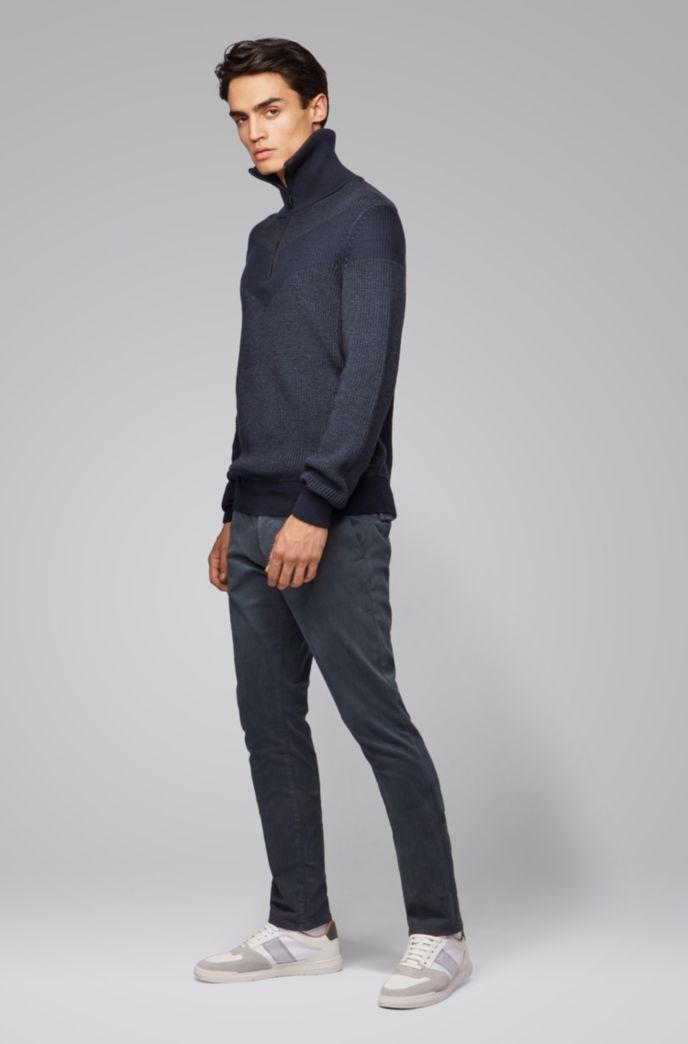 Slim-Fit Hose aus überfärbter Stretch-Baumwolle