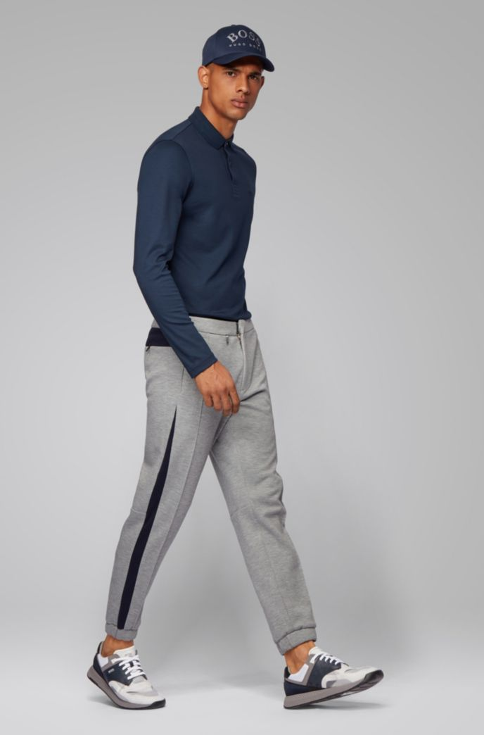 Pantaloni da jogging dal fit affusolato in jersey italiano