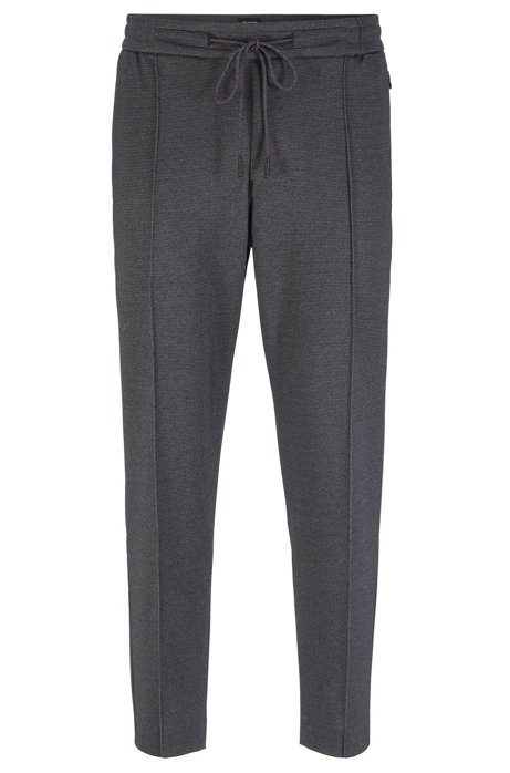 Pantalon Tapered Fit court en jersey imprimé, Gris